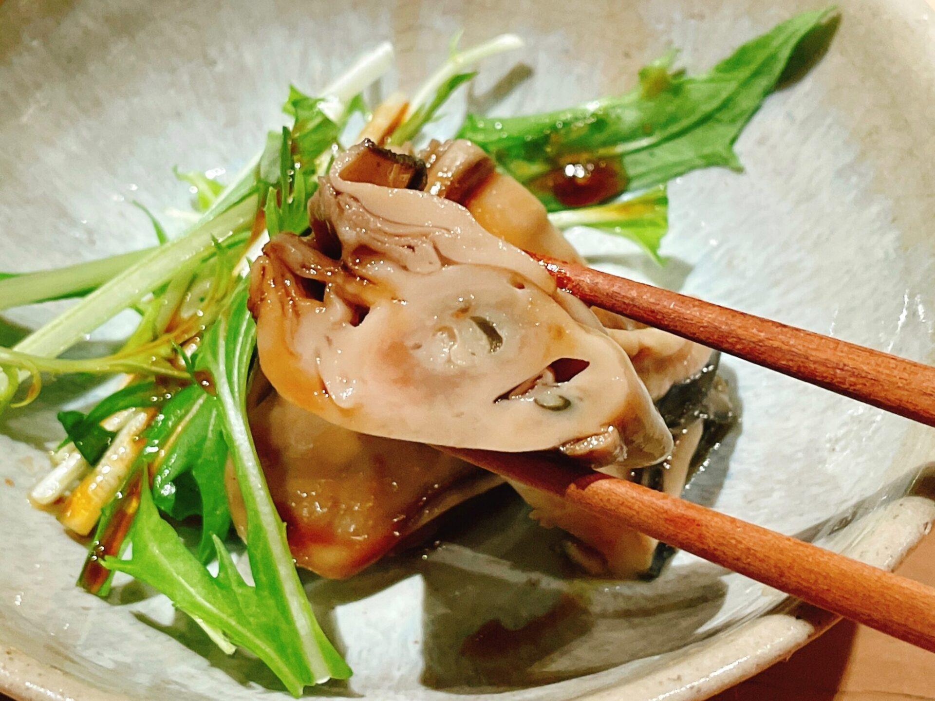 """""""鮨処 喜楽(きらく)""""経堂の牡蠣自家製オイスターソース"""