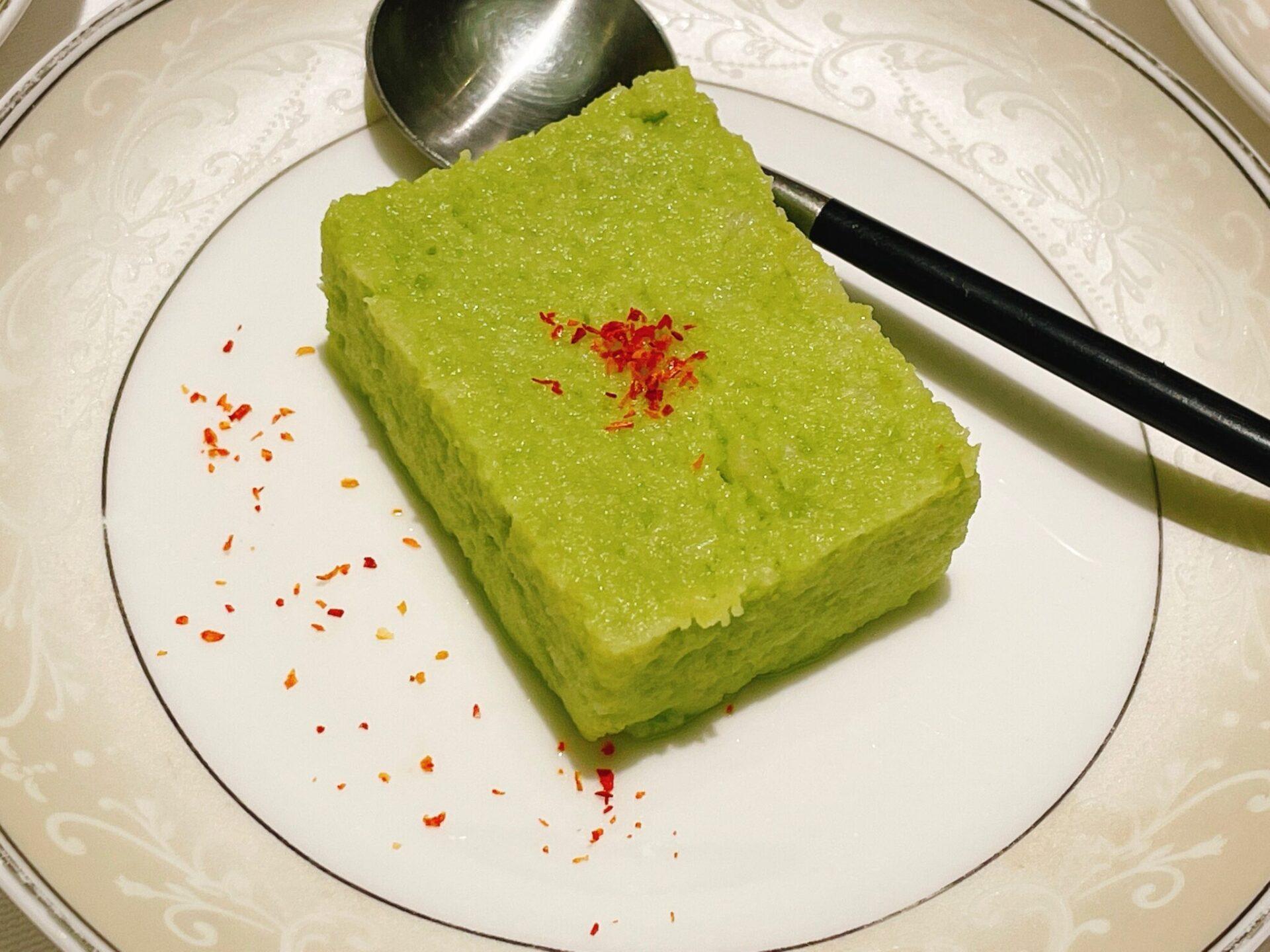 厲家菜(レイカサイ)銀座の翡翠豆腐