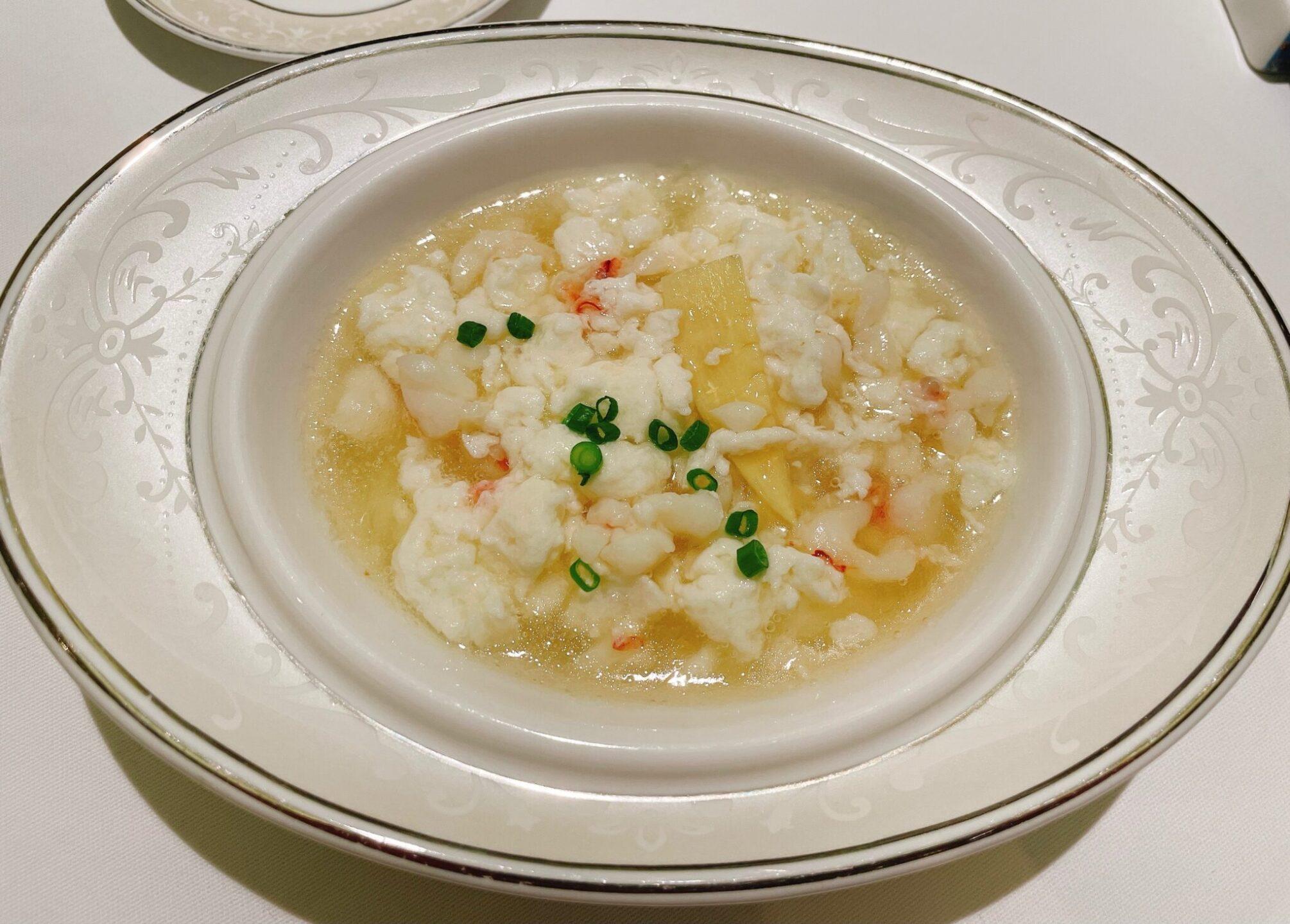 厲家菜(レイカサイ)銀座のエビと卵白炒め