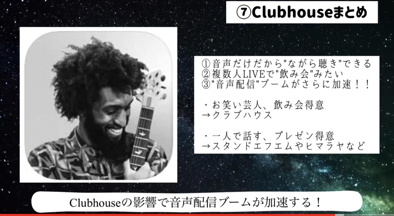 Clubhouse(クラブハウス)で音声配信は向き不向きあり