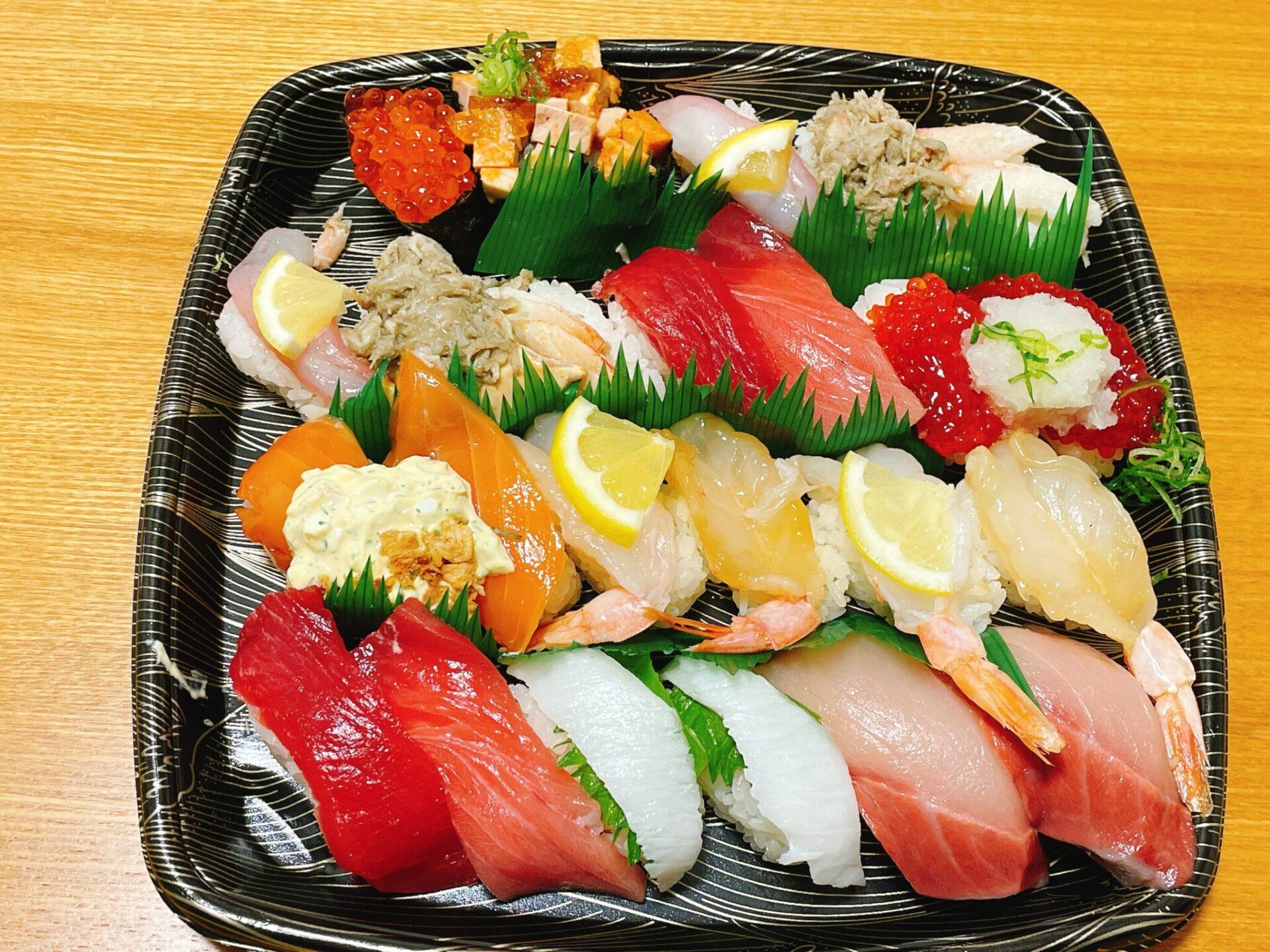 スシロー経堂店の寿司持ち帰り
