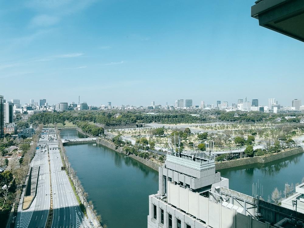 ペニンシュラ東京の部屋からの眺め