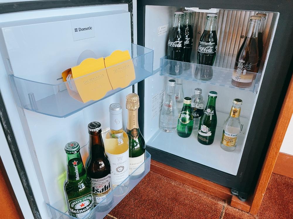 ペニンシュラ東京の冷蔵庫