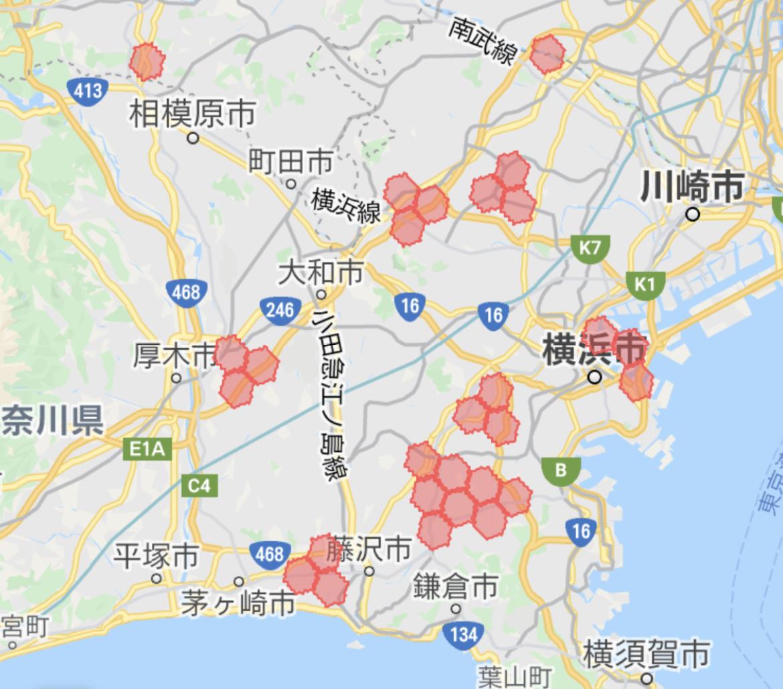 神奈川県 menu(メニュー)の配達エリア