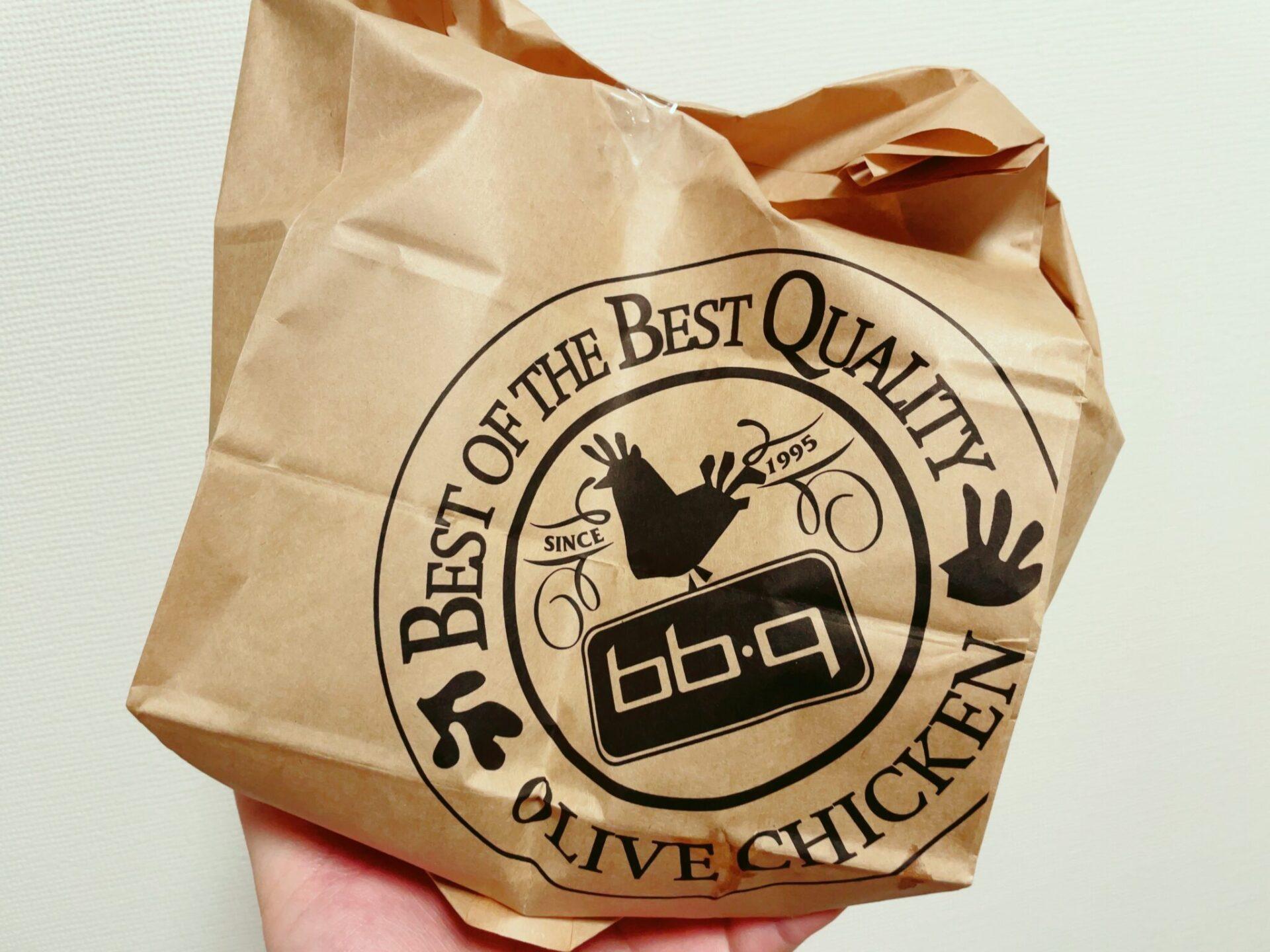 bb.qオリーブチキンカフェの紙袋・ロゴ