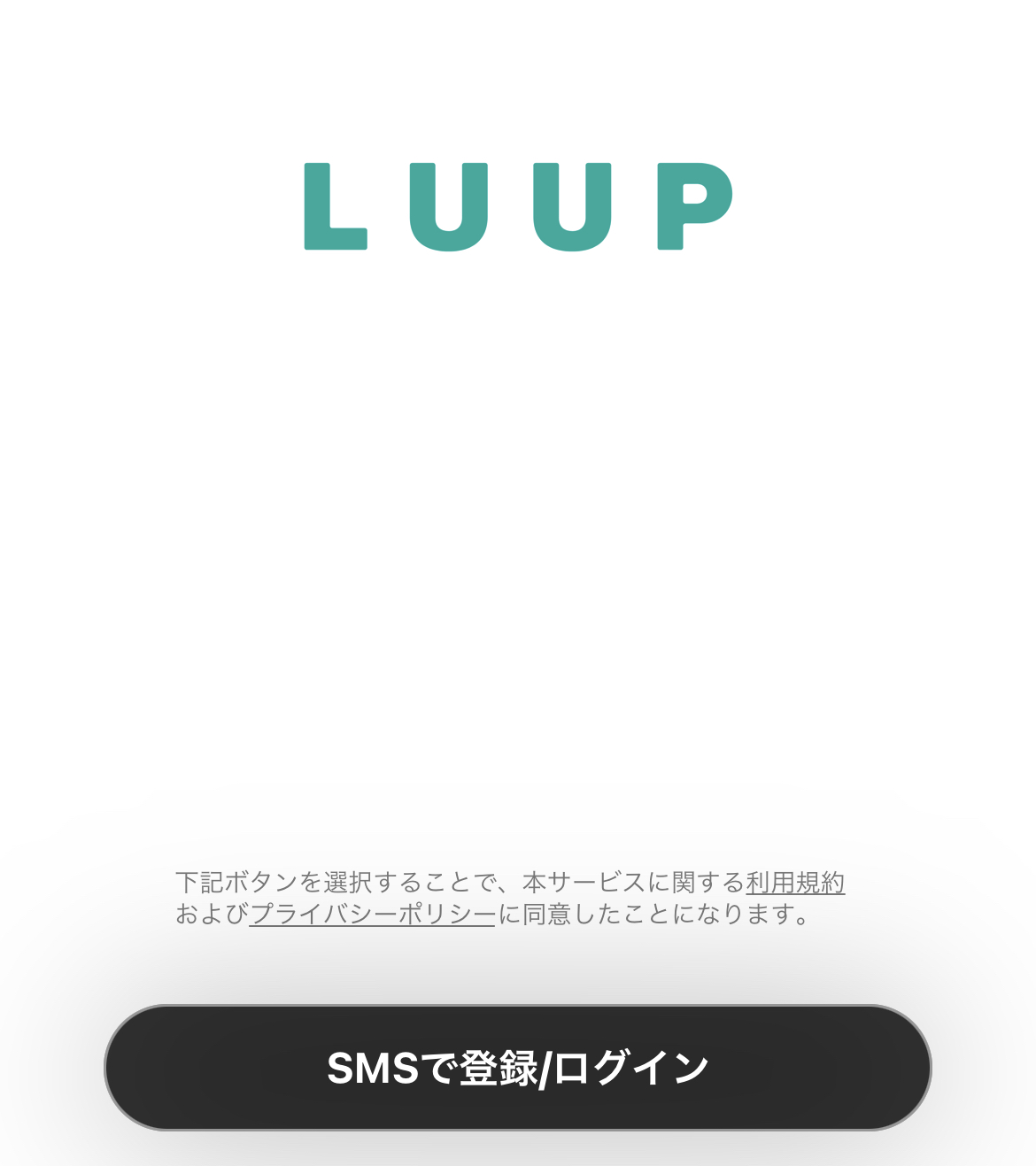 LUUP(ループ)の使い方 登録画面