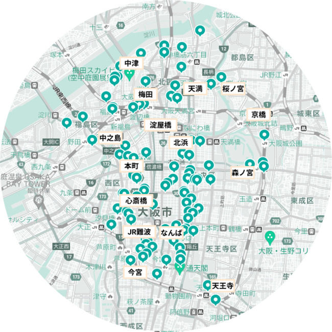 LUUP 大阪の設置場所