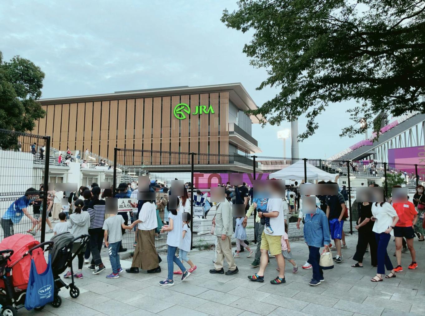 馬事公苑の東京オリンピック仮設スタジアムを見学