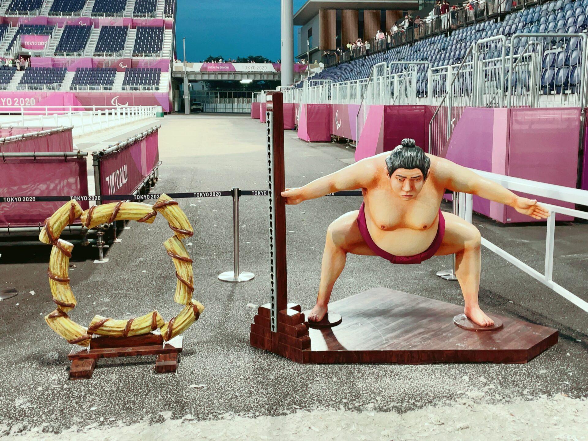 馬事公苑の東京オリンピック馬術競技の障害 力士