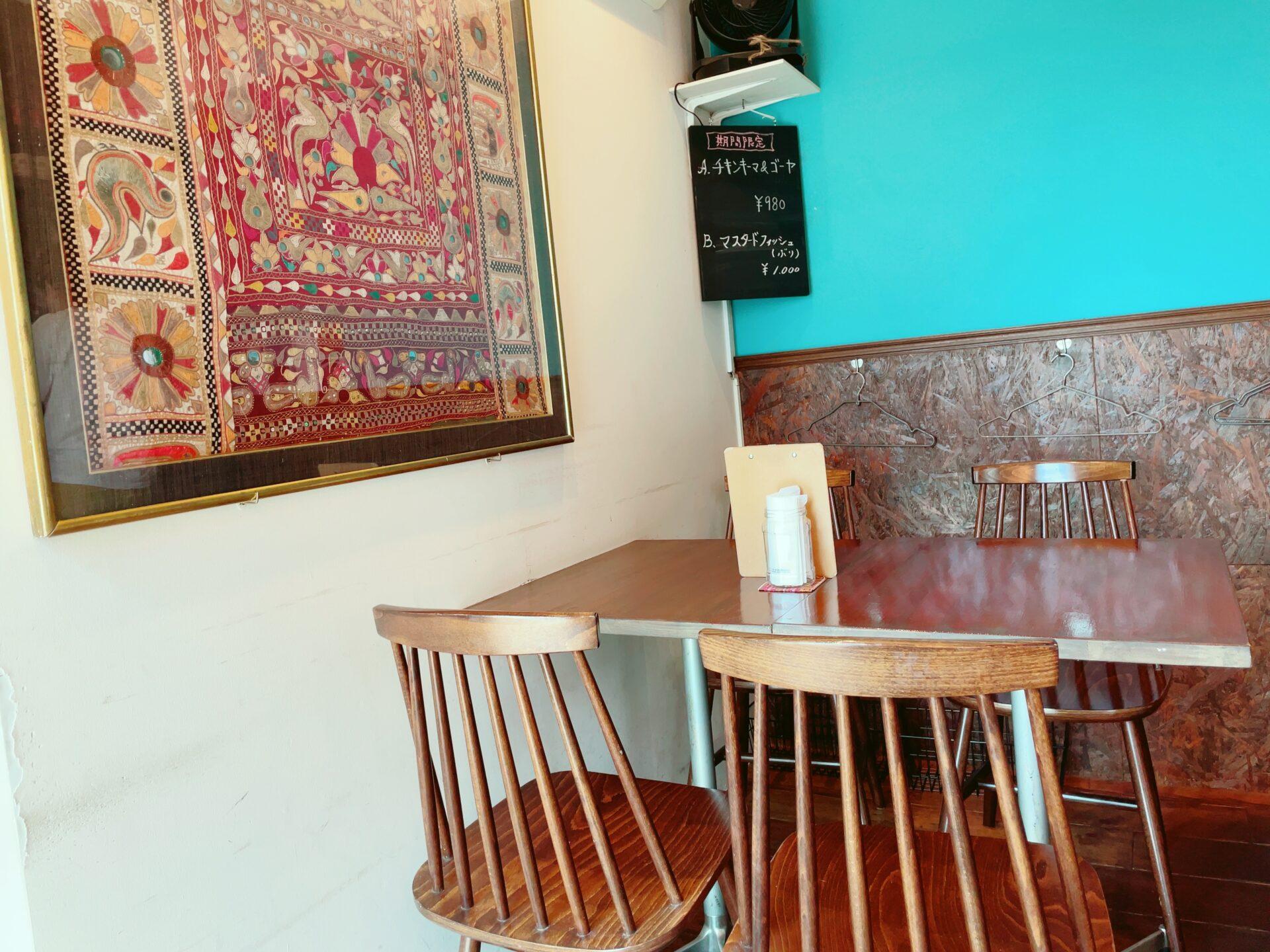 ハバチャル 千歳烏山のテーブル席