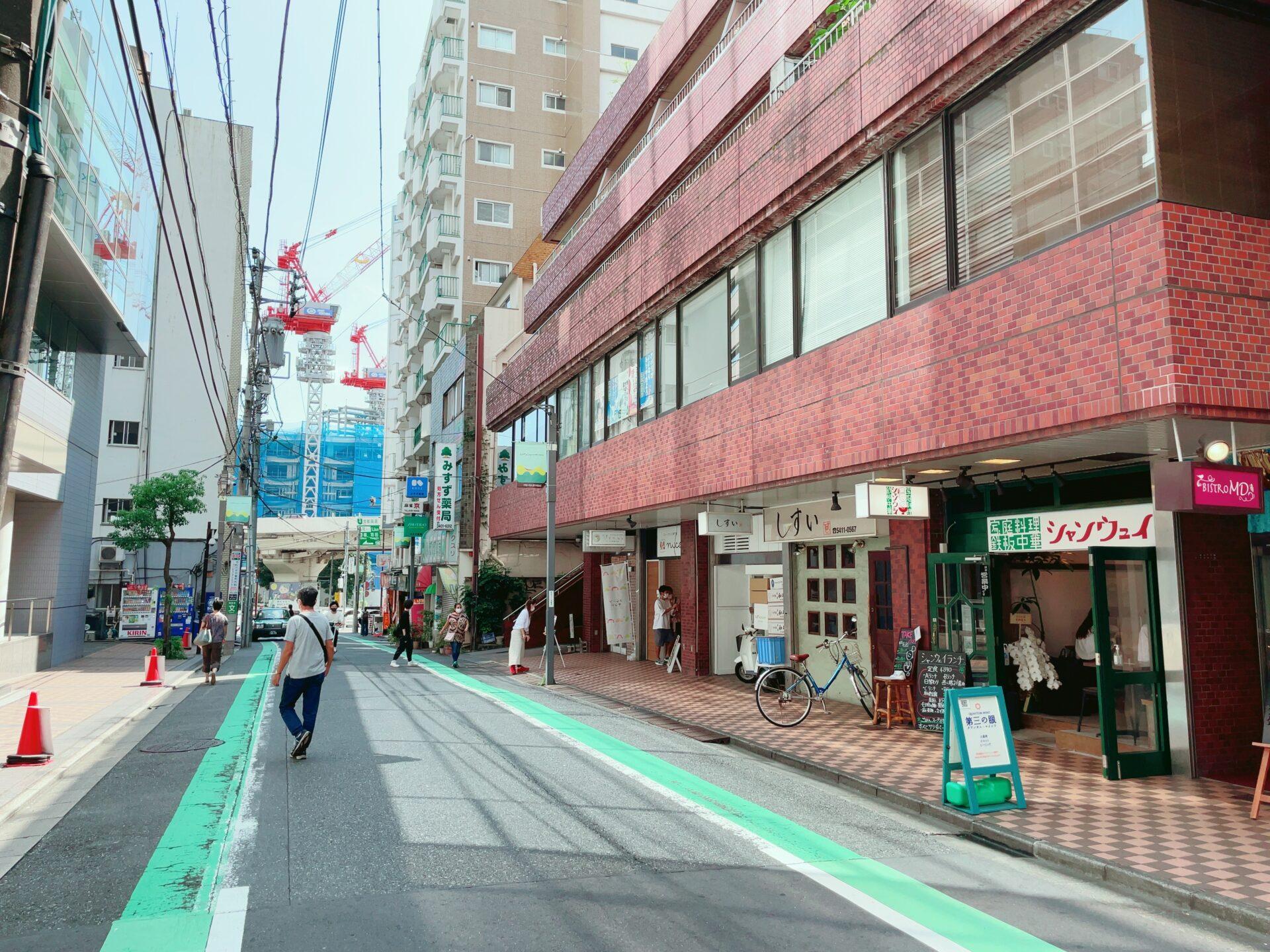 シャンウェイ本店は代々木(北参道)は日本共産党本部の目の前